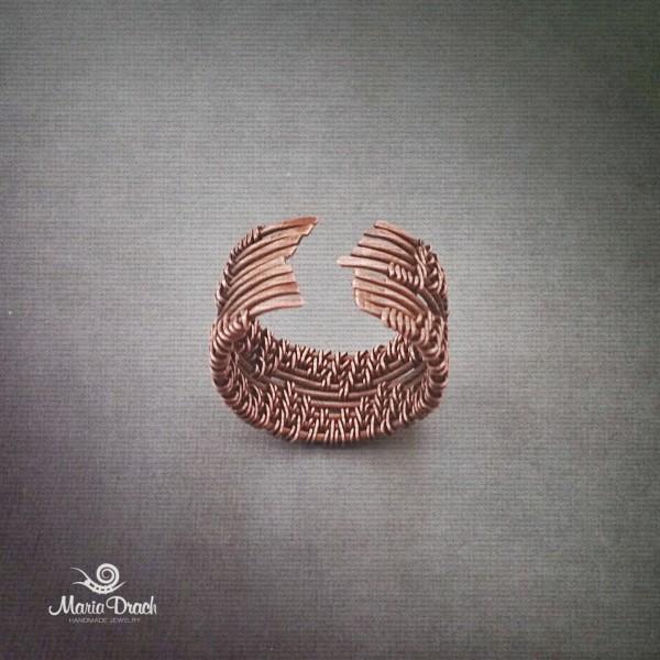 медное кольцо ручной работы