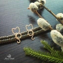 20160327 100818 257x257 - Серебряные серьги-гвоздики «Весенние Котики»