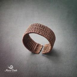 медное плетеное кольцо