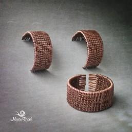 медные серьги и кольцо