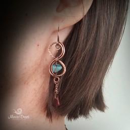 "Infinity earrings 2 257x257 - Набор ""Бесконечность"""