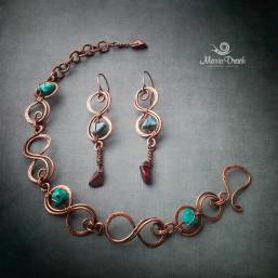 "Infinity earringsbracelet1 257x257 - Набор ""Бесконечность"""