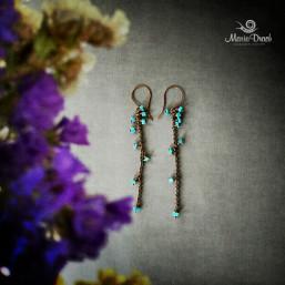 """earrings 2 257x257 - Набор """"Морской риз"""""""