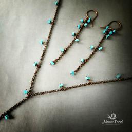 """earrings 3 257x257 - Набор """"Морской риз"""""""
