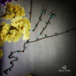 """earrings 4 257x257 - Набор """"Морской риз"""""""