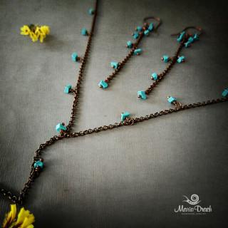 """earrings 5 320x320 - Набор """"Морской риз"""""""