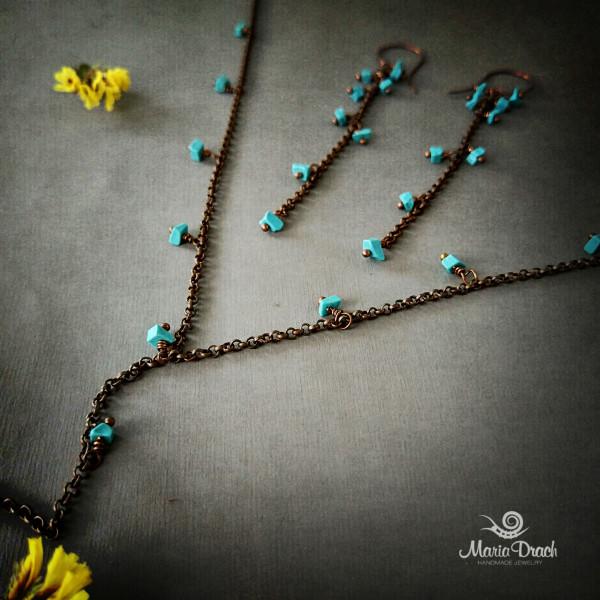 """earrings 5 600x600 - Набор """"Морской риз"""""""