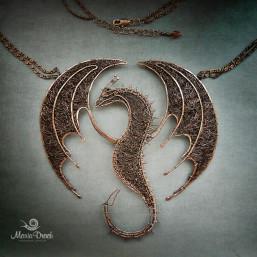 """dragon 1 257x257 - Колье """"Дракон ДрОгон"""""""
