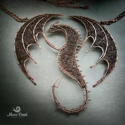 """dragon 3 257x257 - Колье """"Дракон ДрОгон"""""""