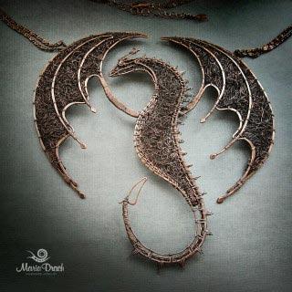 """dragon 3 320x320 - Колье """"Дракон ДрОгон"""""""