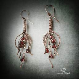 "drop earrings 1 257x257 - Серьги ""Капелька жизни"""