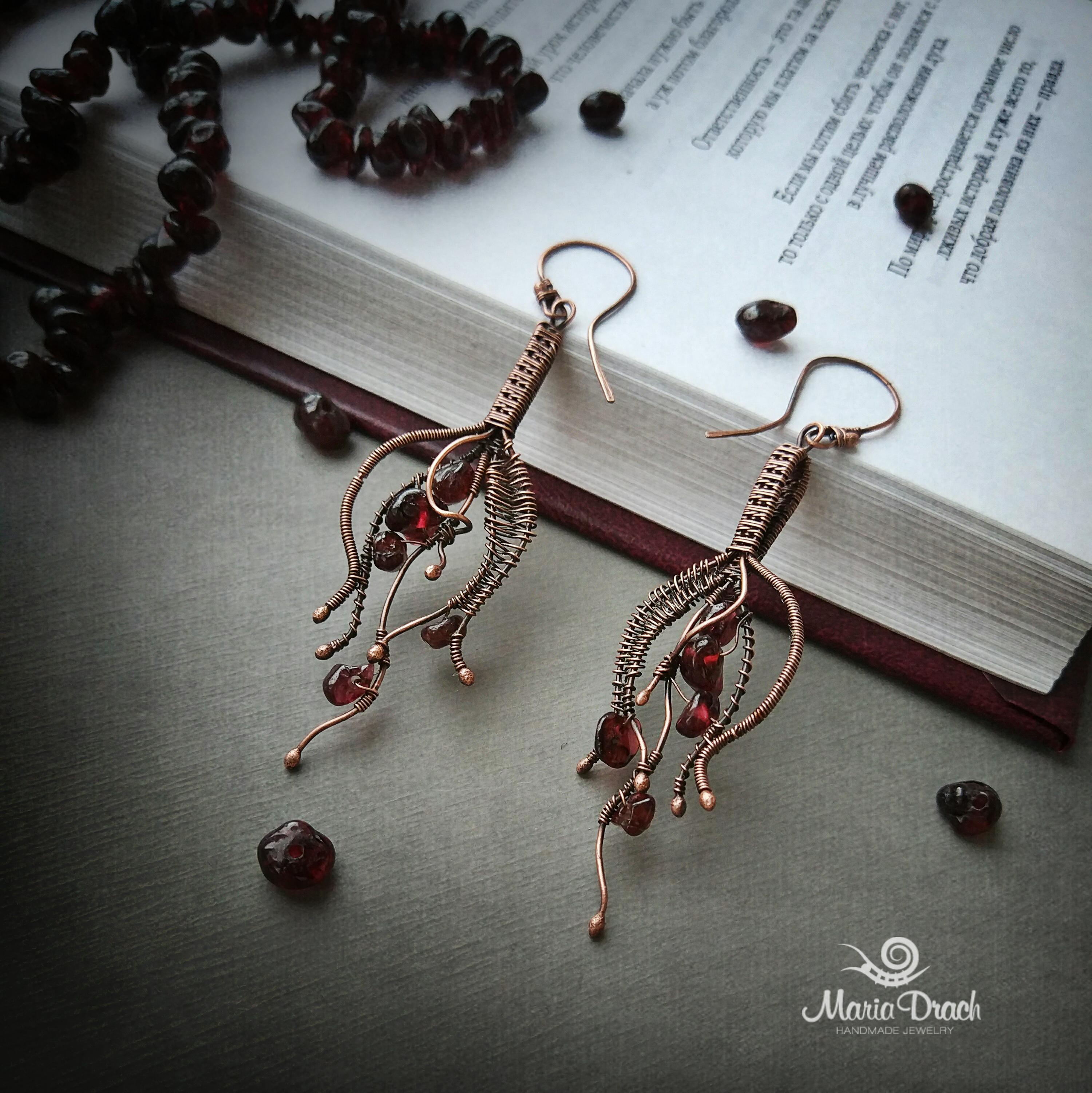 drop earrings 7 - Медная свадьба - годовщина свадьбы 7 лет. Идеи для подарков.