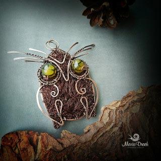 """owl brooch 1 320x320 - Брошь-подвеска """"Мудрая сова"""""""