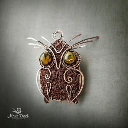 """owl brooch 2 257x257 - Брошь-подвеска """"Мудрая сова"""""""