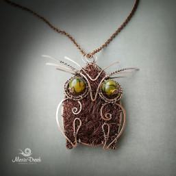 """owl brooch 3 257x257 - Брошь-подвеска """"Мудрая сова"""""""
