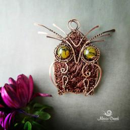 """owl brooch 4 257x257 - Брошь-подвеска """"Мудрая сова"""""""