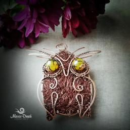 """owl brooch 5 257x257 - Брошь-подвеска """"Мудрая сова"""""""